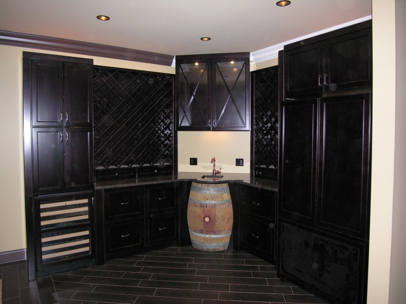 Residential - Bars/Wine Cellars/Wine Storage - Custom Cabinet Source